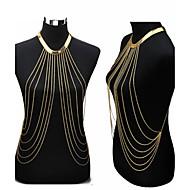 Biżuteria/Łańcuszek na brzuch Łańcuch nadwozia / Belly Chain uprząż Naszyjnik Pozłacane Sexy Bikini przejście Modny Złoty 1szt