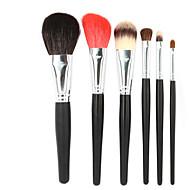 6 Brush Lavastus Vuohenkarva-sivellin / Synteettinen tukka / HevonenHypoallergenic / Kannettava / Ammattilaisten / Matkailu / Täysi