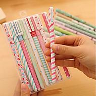 Ιαπωνία και Νότια Κορέα χαρτικά μικρό φρέσκο floral στυλό gel ακουαρέλα χρώμα στυλό μαύρα κοστούμια 10