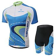 KEIYUEM Fietsen/Wielrennen Shirt + Shorts/Fietsshirt+Broekje / Pakken/Kledingsets Unisex Korte MouwWaterdicht / Ademend / Sneldrogend /