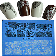 1pcs  New Nails Art Lace Sticker Colorful Image Design Beautiful Lace Flower Manicure Nail Art Tips STZ-V016-020