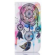 Mert Samsung Galaxy S7 Edge Kártyatartó / Pénztárca / Állvánnyal / Flip / Minta Case Teljes védelem Case Álomvadász Puha Műbőr SamsungS7
