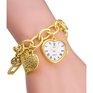 ASJ Damskie Modny Zegarek na bransoletce Japoński Kwarcowy Kwarc japoński / Stop Pasmo Heart Shape Srebro Złoty Silver Golden