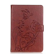 PU leather Material Butterfly Pattern Plate Embossing Protective Case for for iPad Mini 4