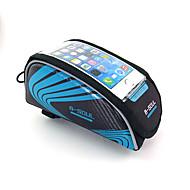 Bolsa de Bicicleta 1.5LLBolsa para Quadro de Bicicleta Camurça de Vaca á Prova-de-Choque / Touch Screen / Suporte iPhone / TelefoneBolsa