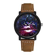Heren Modieus horloge Kwarts Vrijetijdshorloge Legering Band Bedeltjes Zwart Bruin Zwart Bruin