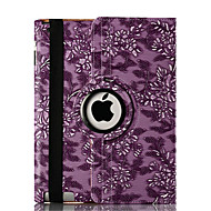 360 Degree Rotating Grape Grain Pattern Smart Cover Stand Flip PU Leather Cover Case For Ipad 2/3/4