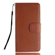 Voor Samsung Galaxy hoesje Kaarthouder / Portemonnee / met standaard / Flip hoesje Volledige behuizing hoesje Effen kleur Zacht PU-leer