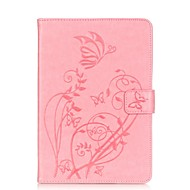 PU leather Material Butterfly Pattern Plate Embossing Protective Case for for iPad Mini 3/2/1
