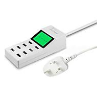 Chargeur Secteur Pour iPad Pour Téléphone Pour Tablette Pour iPhone 8 Ports USB Prise EU Blanc