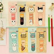 mini magnetische cartoon kat bladwijzer voor student (willekeurige kleuren)