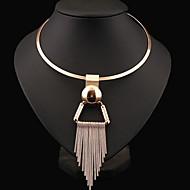 Žene Choker oglice Izjava Ogrlice Circle Shape Plastika Legura Moda Nakit sa stilom Europska kostim nakit Jewelry Za Party Dnevno Kauzalni