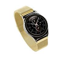 Sort Rose Guld Sølv Rustfrit stål Sportsrem For Samsung Galaxy Ur 20mm