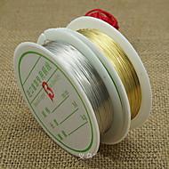 joyería de bricolaje línea de cobre de 0,3 mm