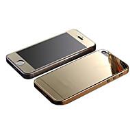 καθρέφτη χρώμα επιμετάλλωση ταινία προστασίας κατά της έκρηξης γυαλί (εμπρός και πίσω) για το iphone 5 / 5δ