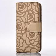 На все тело Визитница / бумажник / с подставкой Цветы Искусственная кожа МягкийRoses Embossing Cell Phone Case , Leather Wallet With Card