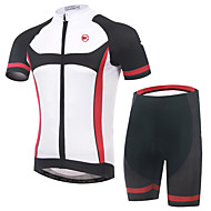 KEIYUEM Fahhrad/Radsport Trikot + Shorts/Radtrikot+Kurze Radhose / Kleidungs-Sets/Anzüge Unisex Kurze ÄrmelWasserdicht / Atmungsaktiv /
