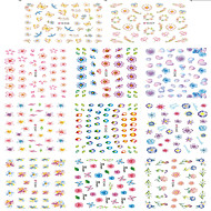 1pcs Include 11 Styles Nail Art  Stickers Simulate Design Colorful Flowers Image E336-346