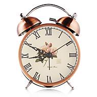 サイレント時計機構とバックライト工芸品テーブルクロックホームデコレーション青銅ヴィンテージダブルベル鉄目覚まし時計