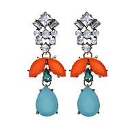 Régies (Vintage) Divat luxus ékszer Európai Gyanta Strassz utánzat Diamond Ötvözet Geometric Shape Szivárvány Ékszerek MertParti Napi