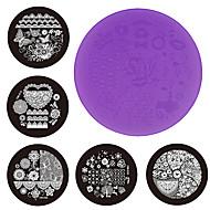 Nail Art Płyta tłoczona Stamper Skrobak 7cm