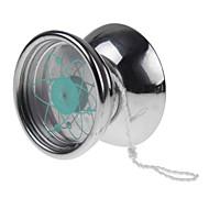 acciaio orbita professionale satellitare acciaio yoyo palla 3 cuscinetti stringa trucco regalo giocattoli d'argento