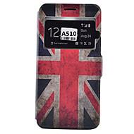Για Samsung Galaxy Θήκη Θήκη καρτών / Ανθεκτική σε πτώσεις / Προστασία από τη σκόνη / με βάση στήριξης tok Πλήρης κάλυψη tok Σημαία Μαλακή
