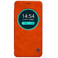 Mert Asus tok Betekintő ablakkal / Flip Case Teljes védelem Case Egyszínű Kemény Valódi bőr AsusAsus ZenFone Max ZC550KL / Asus ZenFone
