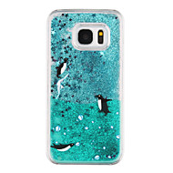 Voor Samsung Galaxy S7 Edge Stromende vloeistof / Transparant / Patroon hoesje Achterkantje hoesje Dier Hard PC Samsung S7 edge / S7