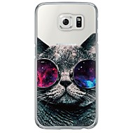 Cool Cat Pattern Soft Ultra-thin TPU Back Cover For Samsung GalaxyS7 edge/S7/S6 edge/S6 edge plus/S6/S5/S4