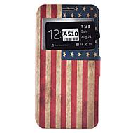 Na Samsung Galaxy Etui Etui na karty / Odporne na wstrząsy / Odporne na kurz / Z podpórką Kılıf Futerał Kılıf Flaga Miękkie Skóra PU