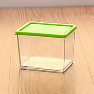 Kitchen Grains and Cereals Sealed Cans Stackable Transparent Plastic Storage Tank with Lid (370ML Random Colors)