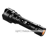 LED Lommelygter LED 3 Modus 1200LM Lumens XM-L2 T6 18650 Camping/Vandring/Grotte Udforskning / Utendørs-Andre,Sort Aluminiumslegering