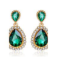 Kolczyki wiszące Szmaragd sztuczna Emerald Cyrkonia Kamienie zodiakalne Cyrkon Cyrkonia Green Biżuteria Na Ślub Impreza 1set