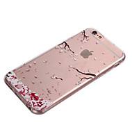 iphone 7 plus ifashion® pinkki pudonneet lehdet kuvio TPU pehmeä kotelo iphone 6s 6 plus