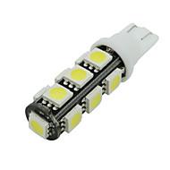 10 X Varm Hvit 13Smd 5050 T10 Rv Omvendt LED Lysene W5W 2825 158 192 168 12V