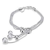 Dame Kæde & Lænkearmbånd Charm-armbånd Wrap Armbånd På tværs Mode Punk Stil Yndig Personaliseret Sølv Smykker Slange Sølv Smykker For