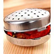Kitchen Supplies Stainless Steel Stew Seasoning Condiment Box (Small Size)