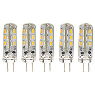 5 pcs 1.5W G4 24*3014SMD Warm/Cool White Color 360degree Chandelier light LED Bi-pin Lights 12V