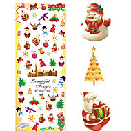 1 pcs Nail Art Water Transfer Christmas Sticker Colorful Happy Christmas Image Nail Decoration HOT193