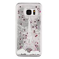 Mert Samsung Galaxy S7 Edge Folyékony / Átlátszó / Minta Case Hátlap Case Eiffel torony Kemény PC Samsung S7 edge / S7