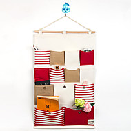 trece bolsillos detrás de la bolsa de almacenamiento estilo de la marina de puerta
