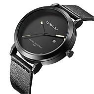 Masculino Relógio de Moda Quartzo Japonês Calendário / Impermeável Couro Banda Riscas Preta marca
