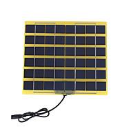12Vバッテリー用DC充電ケーブルで5ワット12Vの多結晶ソーラーパネル(swb5012d)
