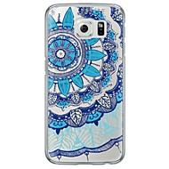 For Samsung Galaxy S7 Edge Etuier Ultratyndt Gennemsigtig Bagcover Etui blondedesign Blødt TPU for SamsungS7 edge S7 S6 edge plus S6 edge