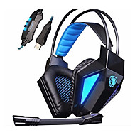 Sades SA-710 USB 7.1 Professional Gaming Headphone Headsets with Microphone & Remote Controller