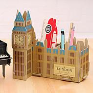 DIY Cardboard Desktop Storage Box(The Big Ben)