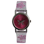 Kinderen Modieus horloge Kwarts Waterbestendig Plastic Band Vlinder Vrijetijdsschoenen Paars Transparant