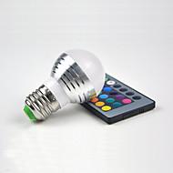 קישוט הבית המולד E27 RGB נשלט מרחוק dimmable אלומיניום לילה אור אור יצירתי 3W קישוט