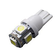 10 kpl T10 valkoinen 168 194 501 W5W 5 SMD LED auton puoli kiila valo lampun dc 12v